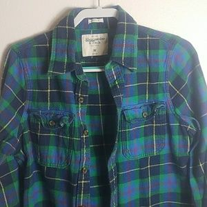 Abercrombie cotten long flannel  sleeve shirt